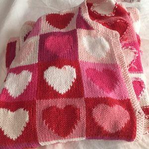 Talbots heart print sweater